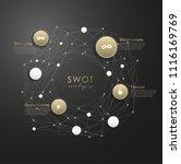 swot    strengths weaknesses... | Shutterstock .eps vector #1116169769