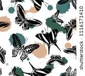 lovely seamless butterfly kite... | Shutterstock .eps vector #1116171410