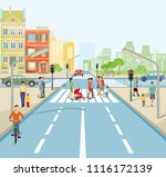 road traffic in the city ... | Shutterstock .eps vector #1116172139