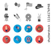 barbecue  salute  voting... | Shutterstock .eps vector #1116176948