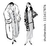 Flapper Girls  20's Style  ...