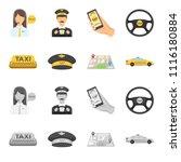 yellow taxi inscription  a cap... | Shutterstock .eps vector #1116180884