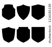shields collection. black... | Shutterstock .eps vector #1116181130