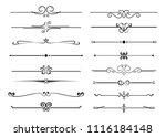set of ornamental filigree... | Shutterstock .eps vector #1116184148