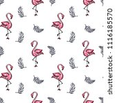 summer card. sketch of pink... | Shutterstock .eps vector #1116185570