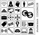 set of 22 business high quality ... | Shutterstock .eps vector #1116186128