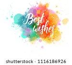 multicolored splash watercolor... | Shutterstock .eps vector #1116186926