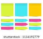 set of different color sheets... | Shutterstock .eps vector #1116192779