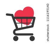 buying love   shopping cart... | Shutterstock .eps vector #1116195140