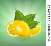vector lemons | Shutterstock .eps vector #111619628