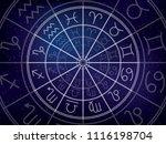 zodiacal circle. zodiac signs... | Shutterstock .eps vector #1116198704