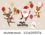 merry christmas greeting card... | Shutterstock .eps vector #1116205376