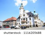 the historic city hall and... | Shutterstock . vector #1116205688