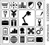 set of 22 business high quality ... | Shutterstock .eps vector #1116206000