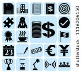 set of 22 business high quality ... | Shutterstock .eps vector #1116206150
