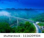 aerial view of cirahong bridge  ... | Shutterstock . vector #1116209504