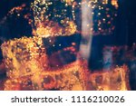 glass of soda waters or cola is ... | Shutterstock . vector #1116210026