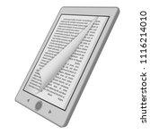 ink reader tablet mockup.... | Shutterstock .eps vector #1116214010