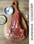 raw fresh beef steak and... | Shutterstock . vector #1116215309