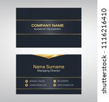business model name card luxury ... | Shutterstock .eps vector #1116216410
