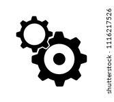 settings icon vector icon.... | Shutterstock .eps vector #1116217526