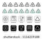 recycling and food symbols set... | Shutterstock .eps vector #1116219188