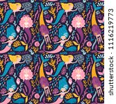 vector seamless pattern with... | Shutterstock .eps vector #1116219773