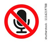 microphones forbidden sign ... | Shutterstock .eps vector #1116219788