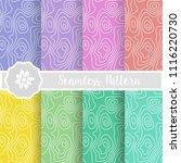 set of zebra nature seamless...   Shutterstock .eps vector #1116220730