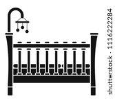 baby crib icon. simple... | Shutterstock .eps vector #1116222284
