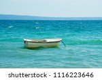 boat at the adriatic shore      ... | Shutterstock . vector #1116223646