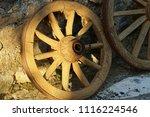 antique wheel  close up         ... | Shutterstock . vector #1116224546