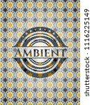 ambient arabesque badge. arabic ... | Shutterstock .eps vector #1116225149