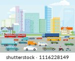 highway in the big city... | Shutterstock .eps vector #1116228149