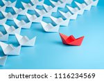 leadership concept. red leader...   Shutterstock . vector #1116234569