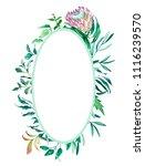 floral watercolor frame.... | Shutterstock . vector #1116239570