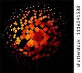 vintage halftone color texture... | Shutterstock .eps vector #1116241538