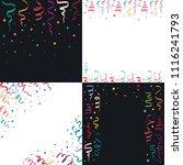 serpentine coil ribbon banner... | Shutterstock .eps vector #1116241793