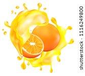 realistic oranges in fruit... | Shutterstock .eps vector #1116249800
