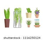 set of various decorative home... | Shutterstock .eps vector #1116250124