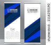 roll up business brochure flyer ... | Shutterstock .eps vector #1116250190