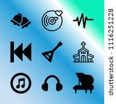 vector icon set about music... | Shutterstock .eps vector #1116251228