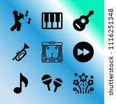 vector icon set about music...   Shutterstock .eps vector #1116251348
