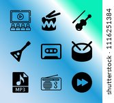 vector icon set about music...