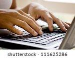 hands on laptop | Shutterstock . vector #111625286