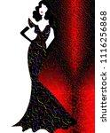 shop logo fashion woman  black... | Shutterstock .eps vector #1116256868