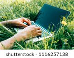 close up of hands on the... | Shutterstock . vector #1116257138