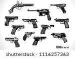 guns  old and modern | Shutterstock . vector #1116257363
