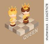 isometric cartoon chess pieces...   Shutterstock .eps vector #1116257678