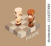 isometric cartoon chess pieces...   Shutterstock .eps vector #1116257684